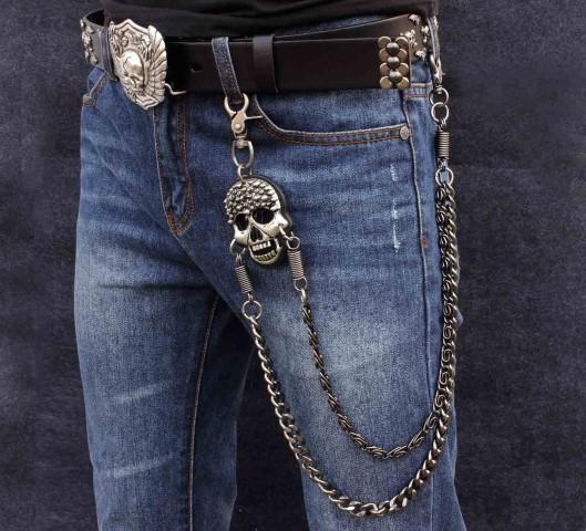 Skull Razor Cadena Para Cartera Y Pantalon Gangbiker Mexico